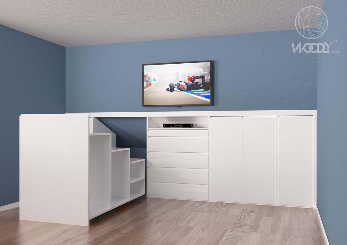 Woody design mobili su misura a roma direttamente a casa - Cabine armadio in mansarda ...