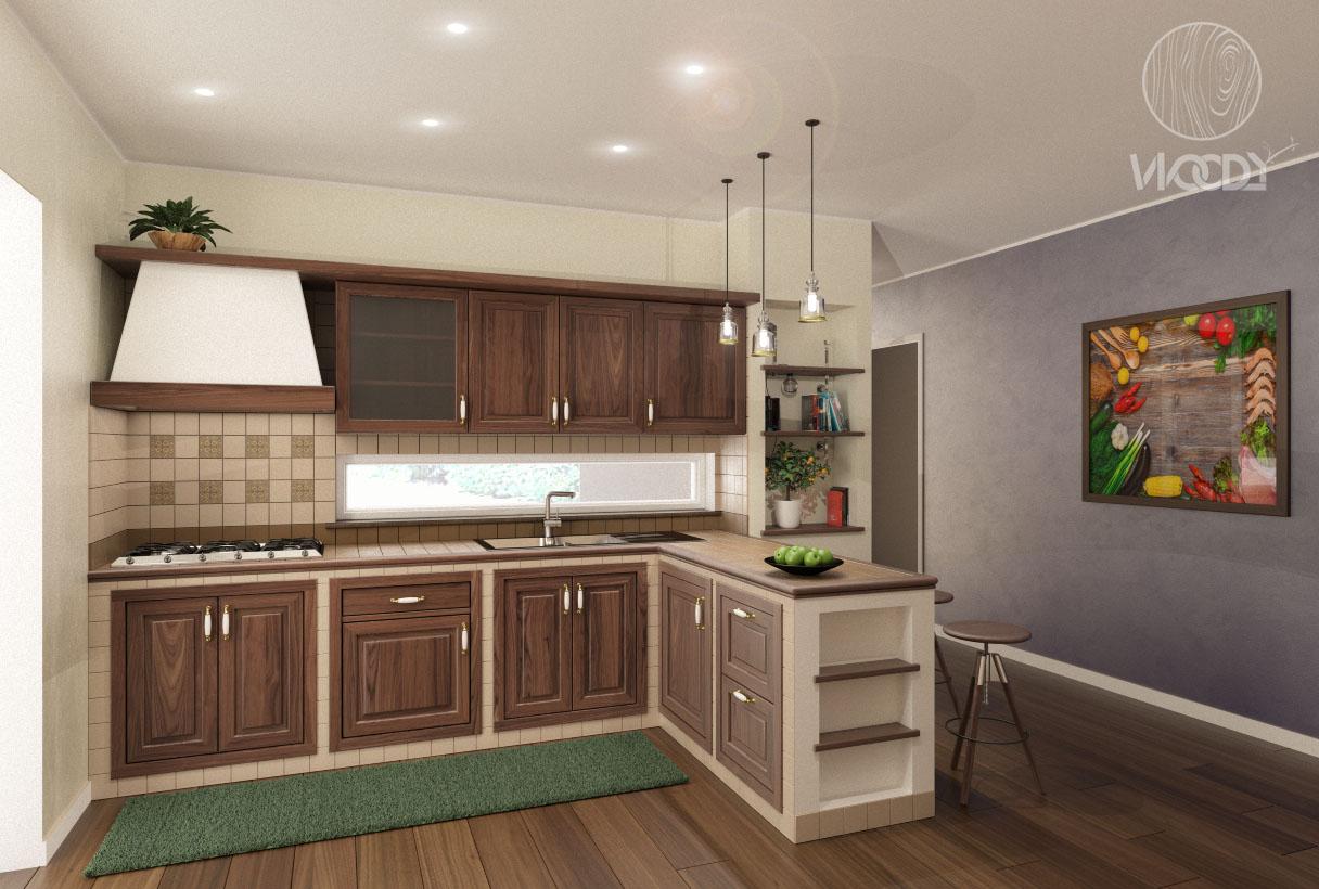 Cucine in muratura su misura woody design - Cucina in muratura ...