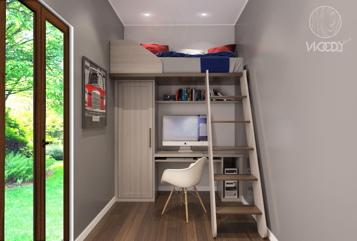 Letti a soppalco su misura woody design - Soppalco per letto ...